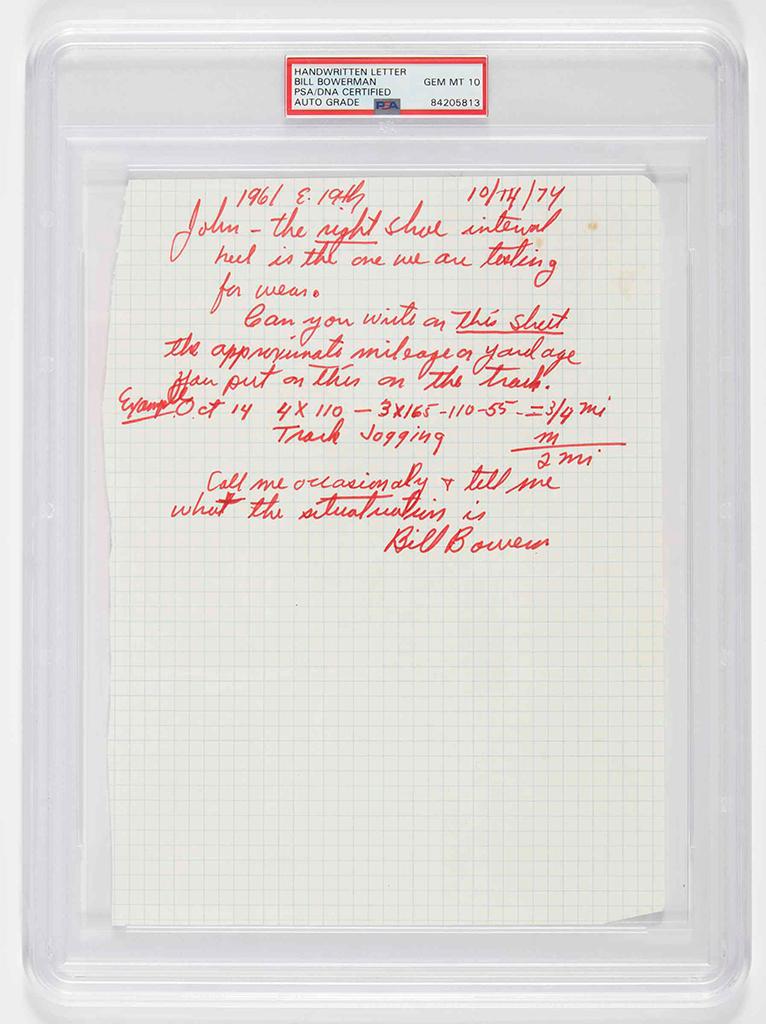 Bill Bowerman Letter John Mays