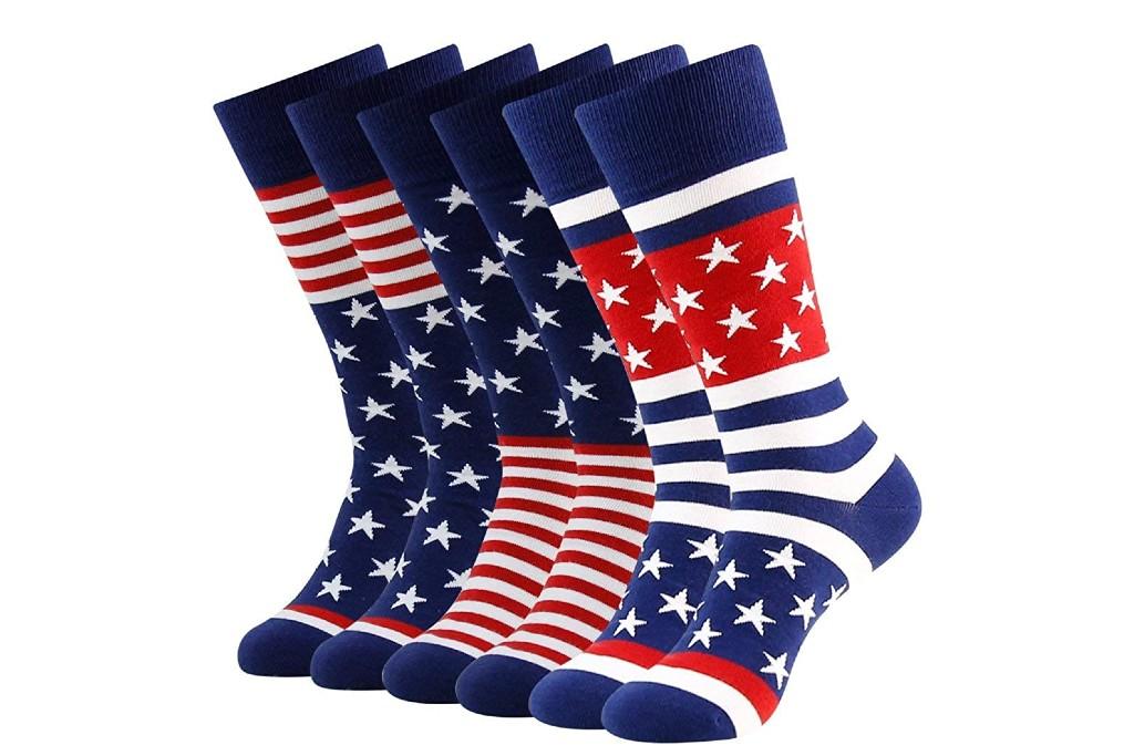 Bonangel American Flag Dress Socks