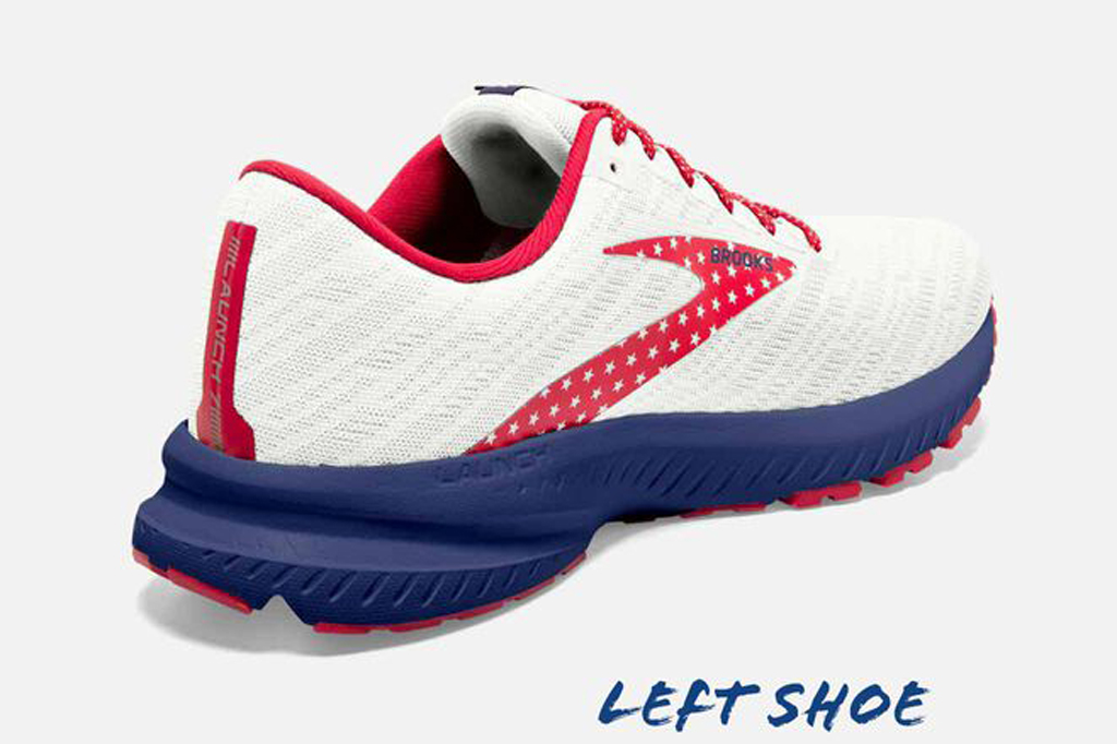 Brooks Run USA Launch 7 , road running shoes, men's sneakers, patriotic shoes