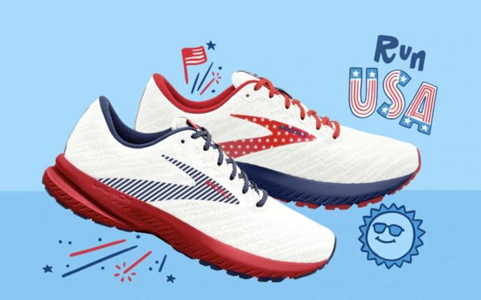 Brooks, patriotic sneakers, launch 7, run usa