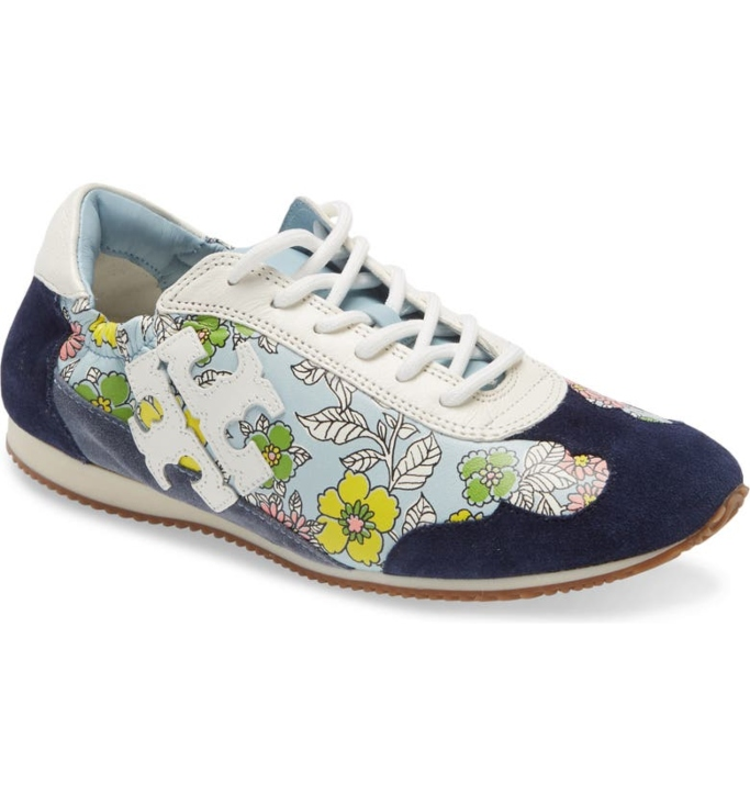 Tory Burch Low Top Floral Sneaker, floral sneakers