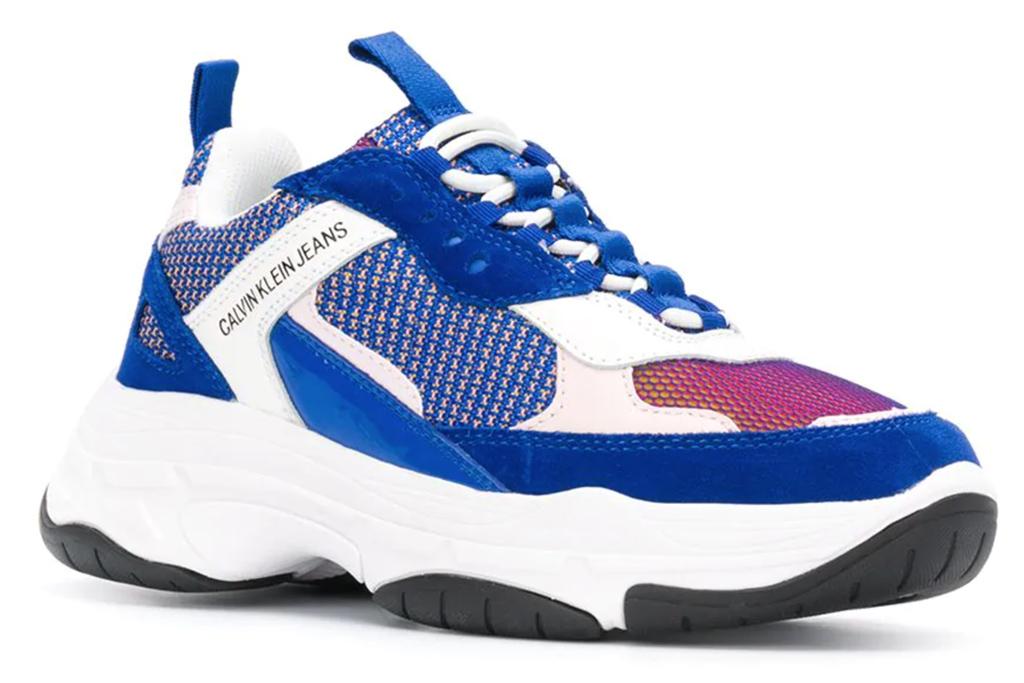 calvin klein, blue sneakers