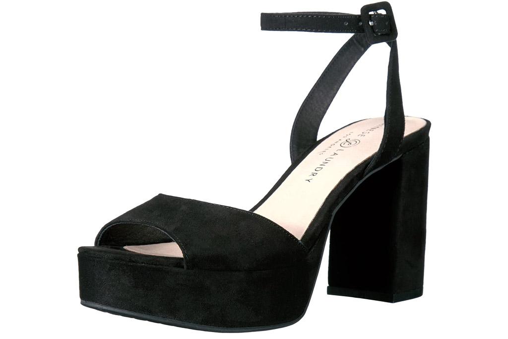 chinese laundry, heels, block, black