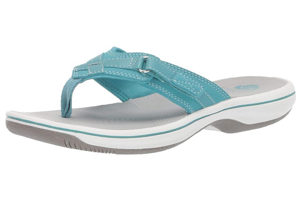 Clarks, teal sandals