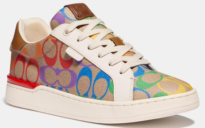 coach, pride, rainbow, sneakers