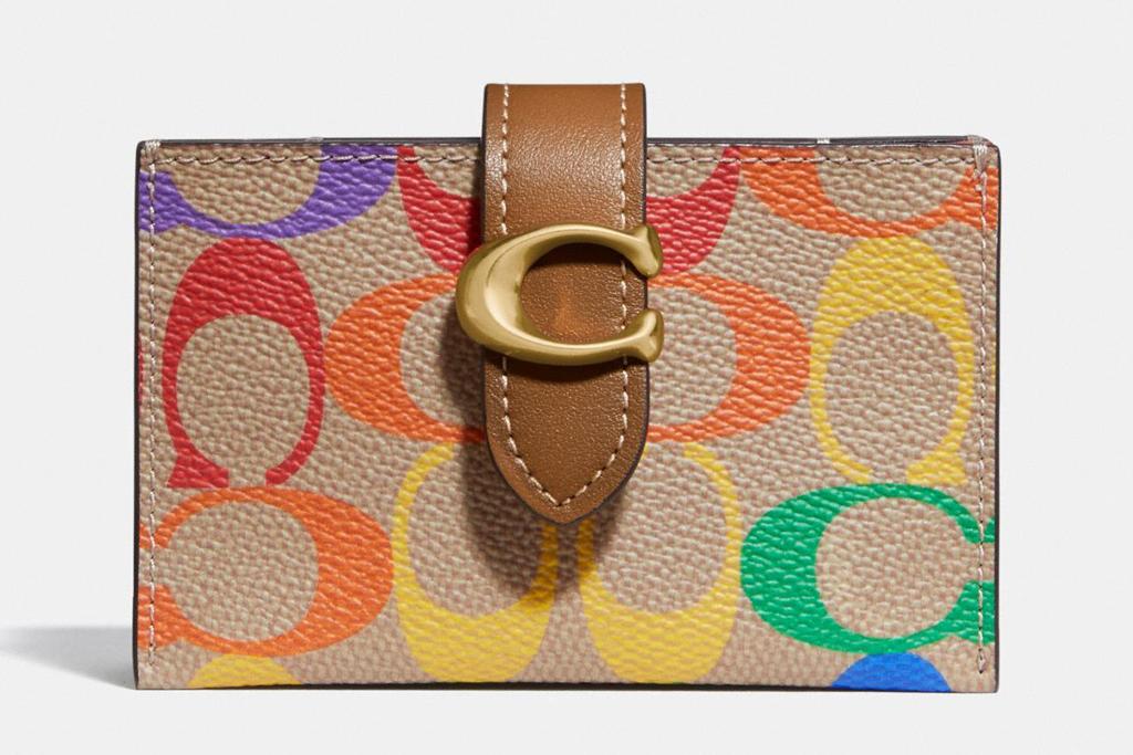 coach, pride, rainbow, wallet, card holder