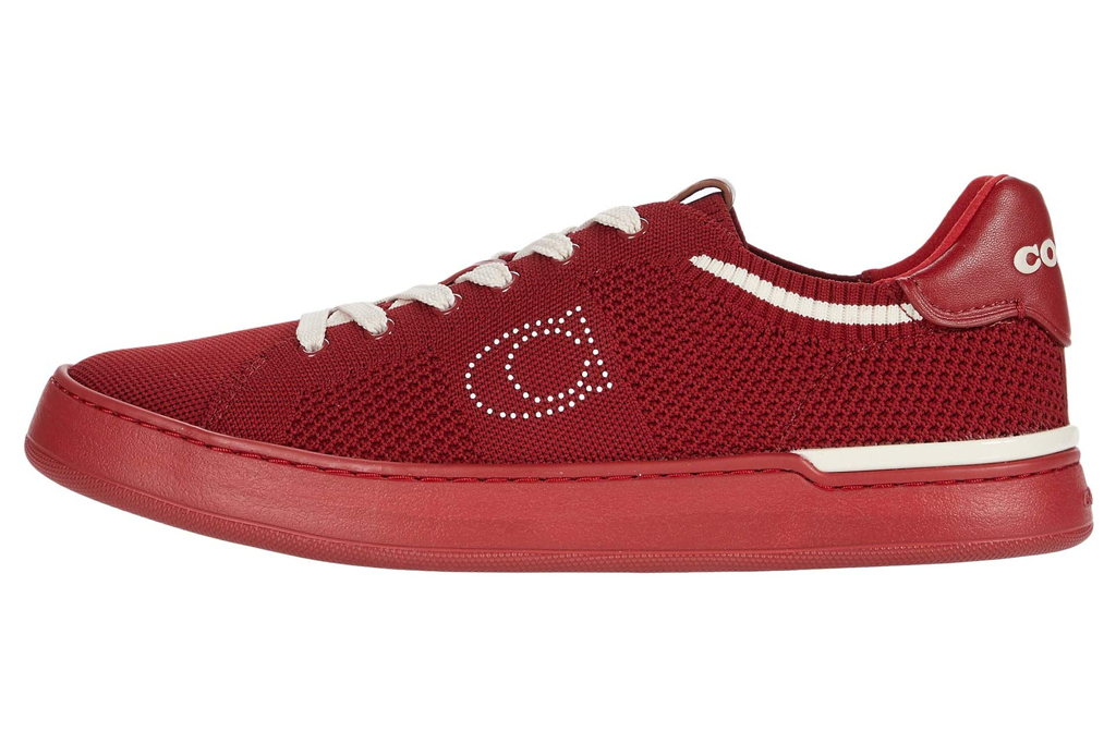 coach, red shoes