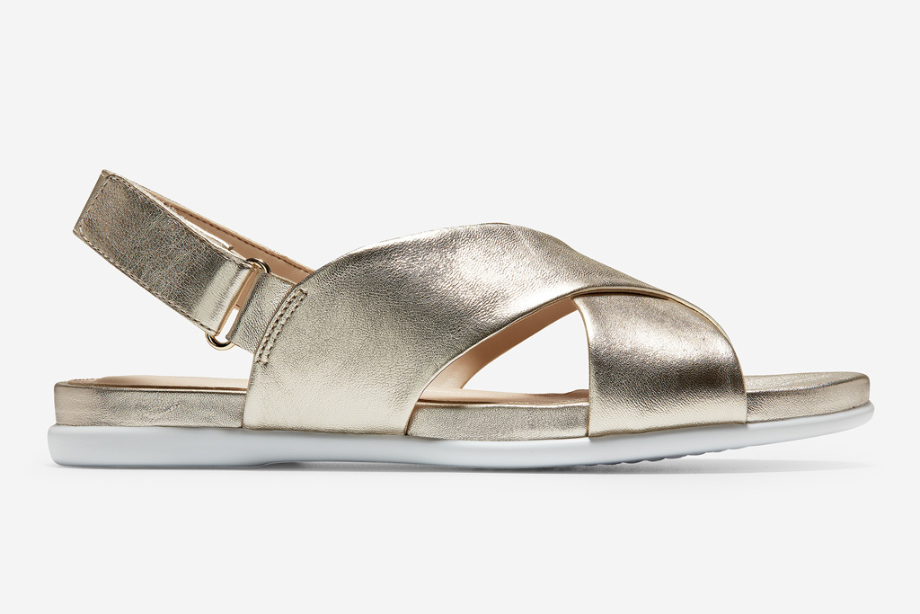 cole haan, sandals, gold