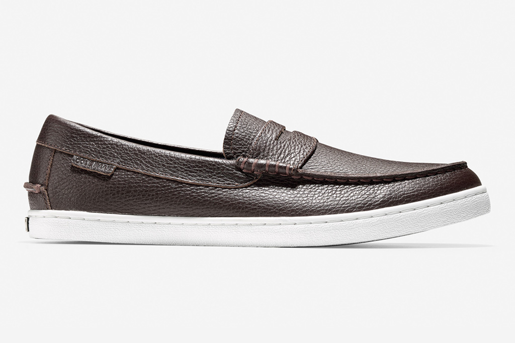 cole haan, leather loafer