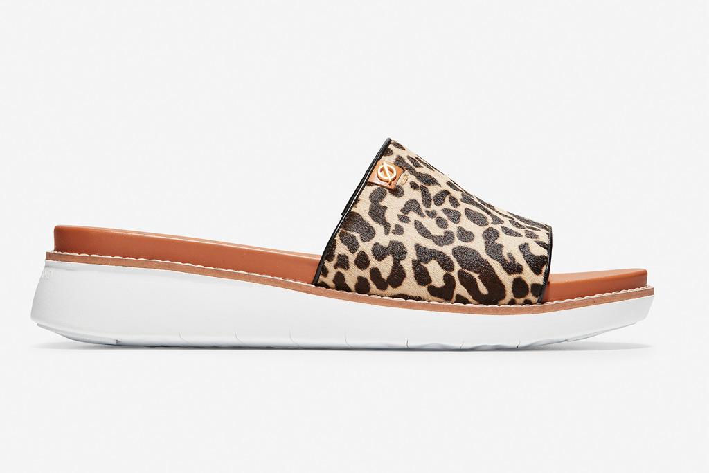 cole haan, leopard, slide