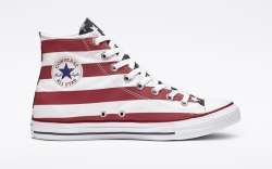 converse, amerciana chuck taylor, red white