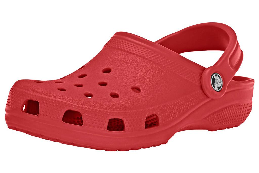 red, crocs
