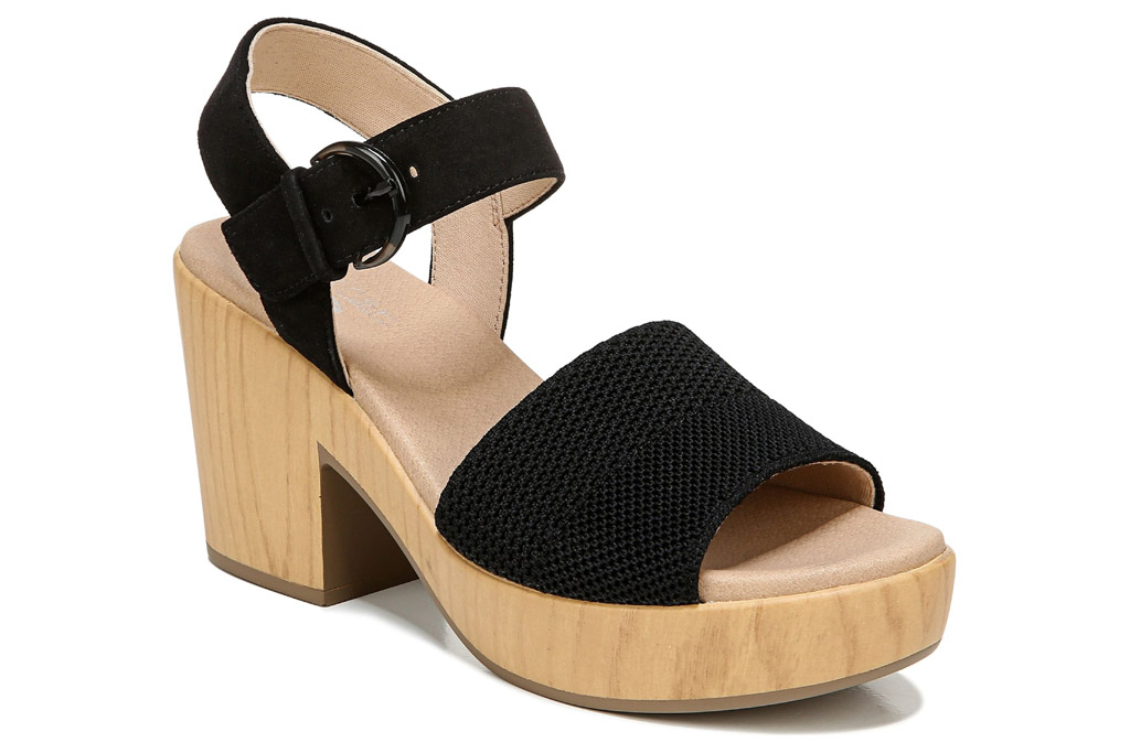 dr scholls, heels, block, black