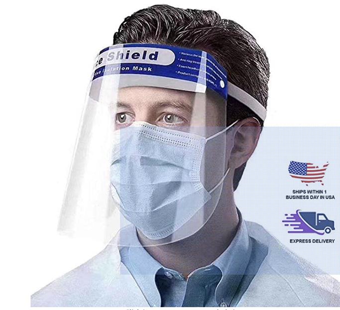 amazon face shield, clear face mask, usa made mask