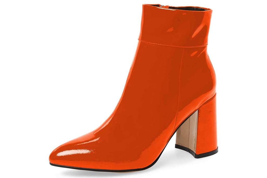 FSJ, orange boots