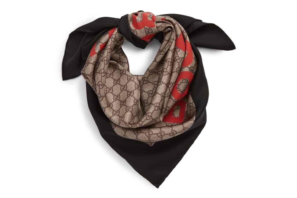 Gucci, silk scarf
