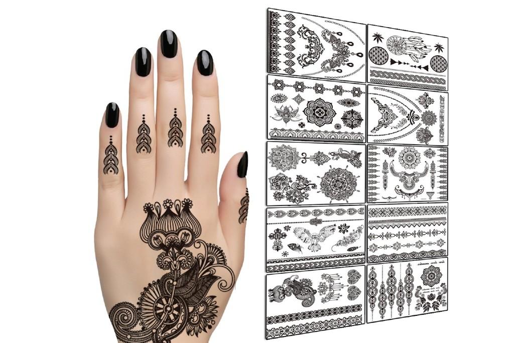 Tafly Henna Tattoos Stickers