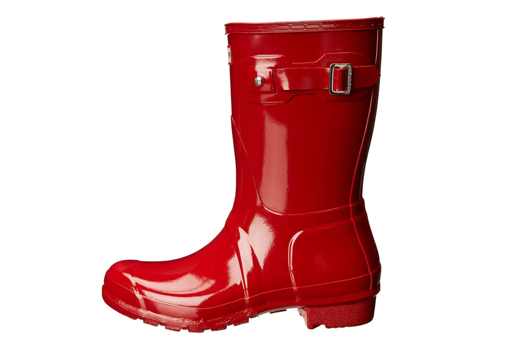 hunter, red boots