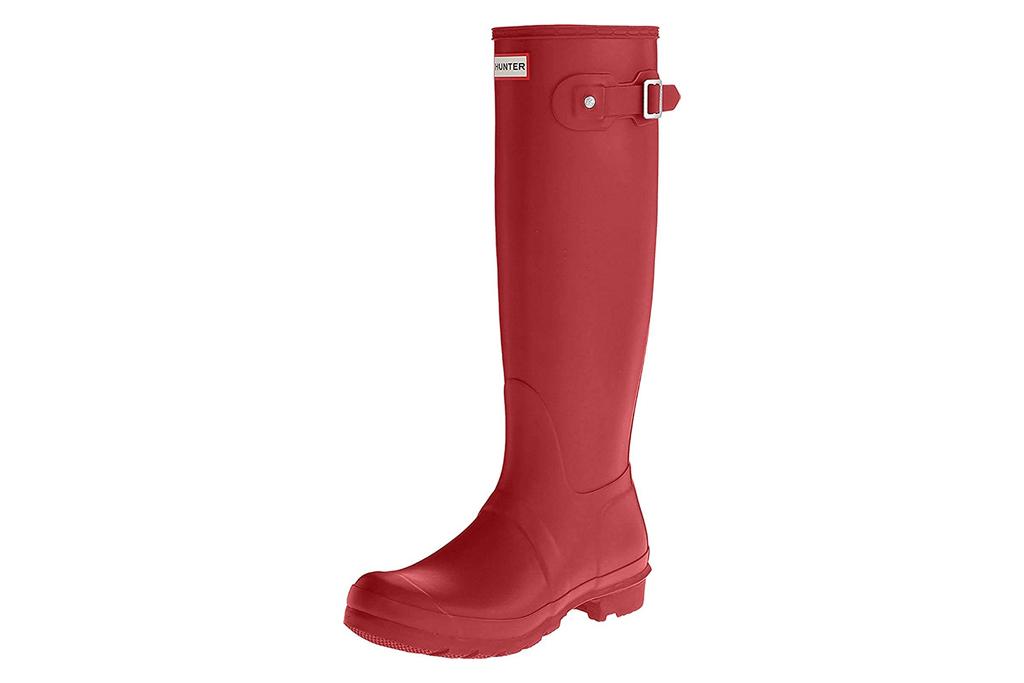 hunter, rain boots, red