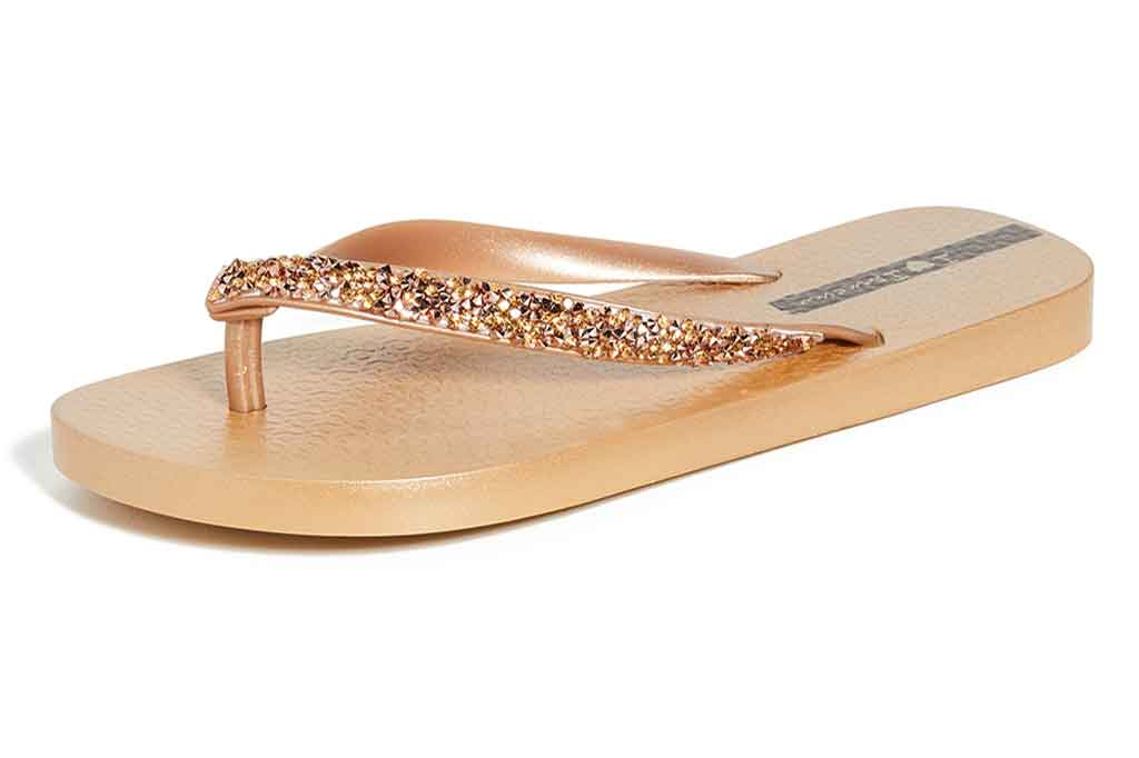Ipanema, gold flip-flops