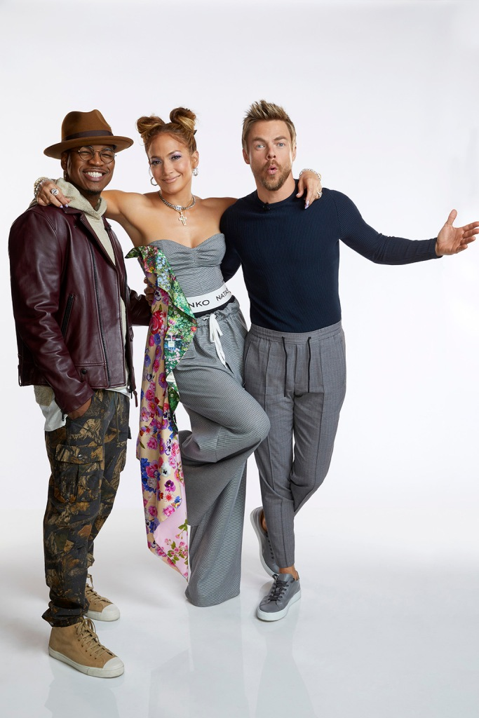 "WORLD OF DANCE -- ""Call Back"" -- Pictured: (l-r) Ne-Yo, Jennifer Lopez, Derek Hough -- (Photo by: Trae Patton/NBC)"