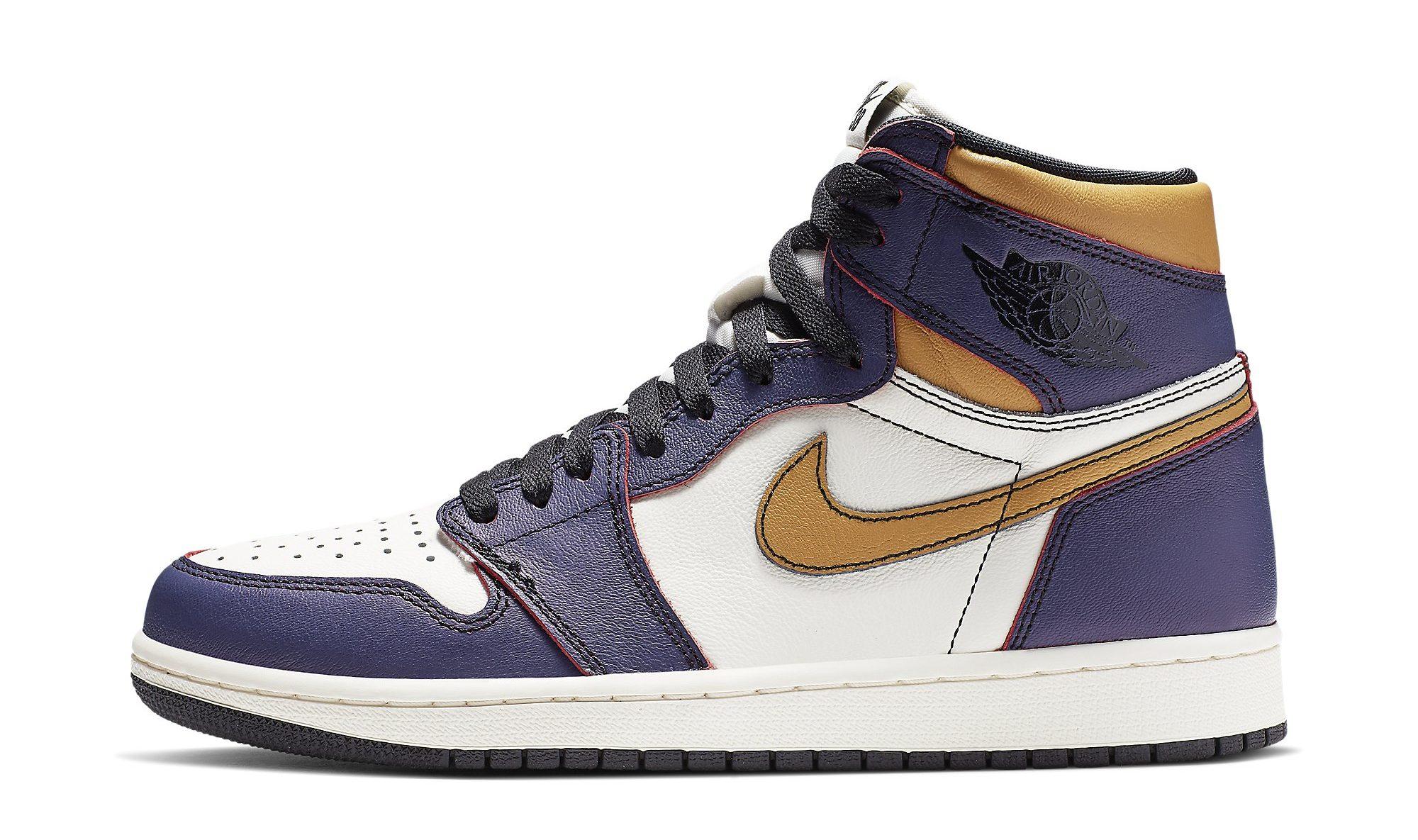 Jordan 13 Retro Laker Shoes: Best LA