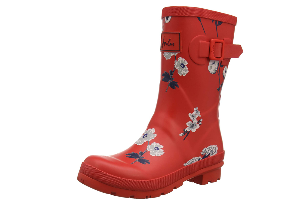 joules, rain boots, red