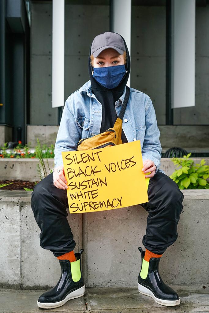 Julia Bond Adidas employee protest