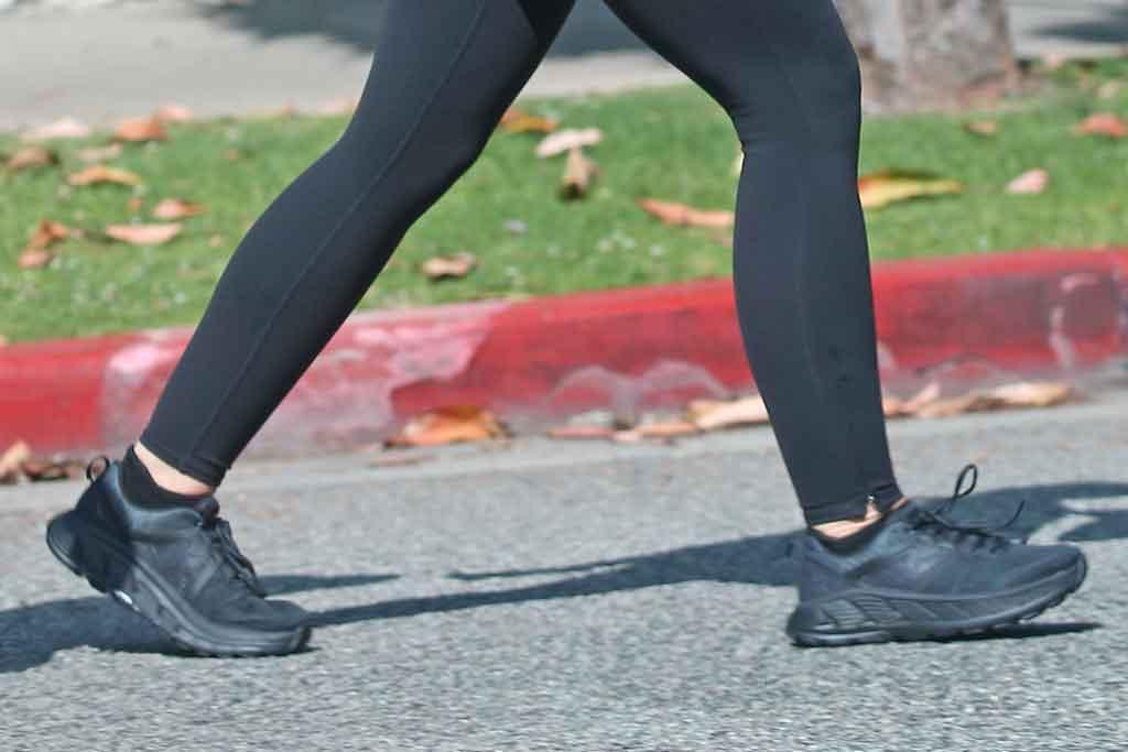 Katherine Schwarzenegger, hoka one one sneakers, street style, los angeles