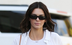 kendall jenner, style, white shirt, crop