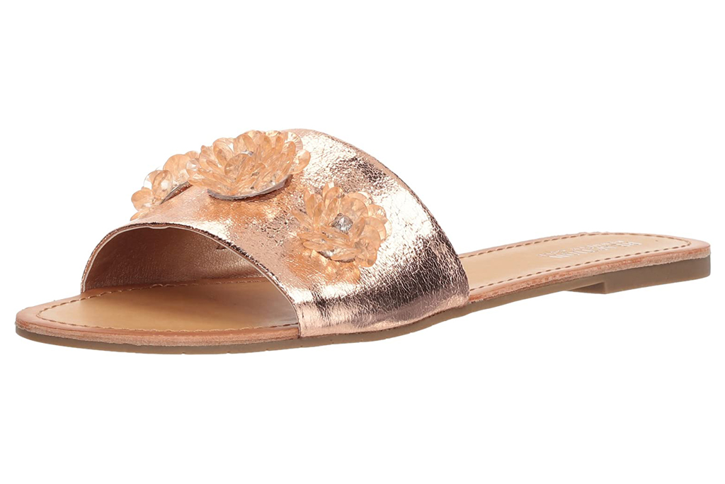 kenneth cole, reaction, sandals, gold