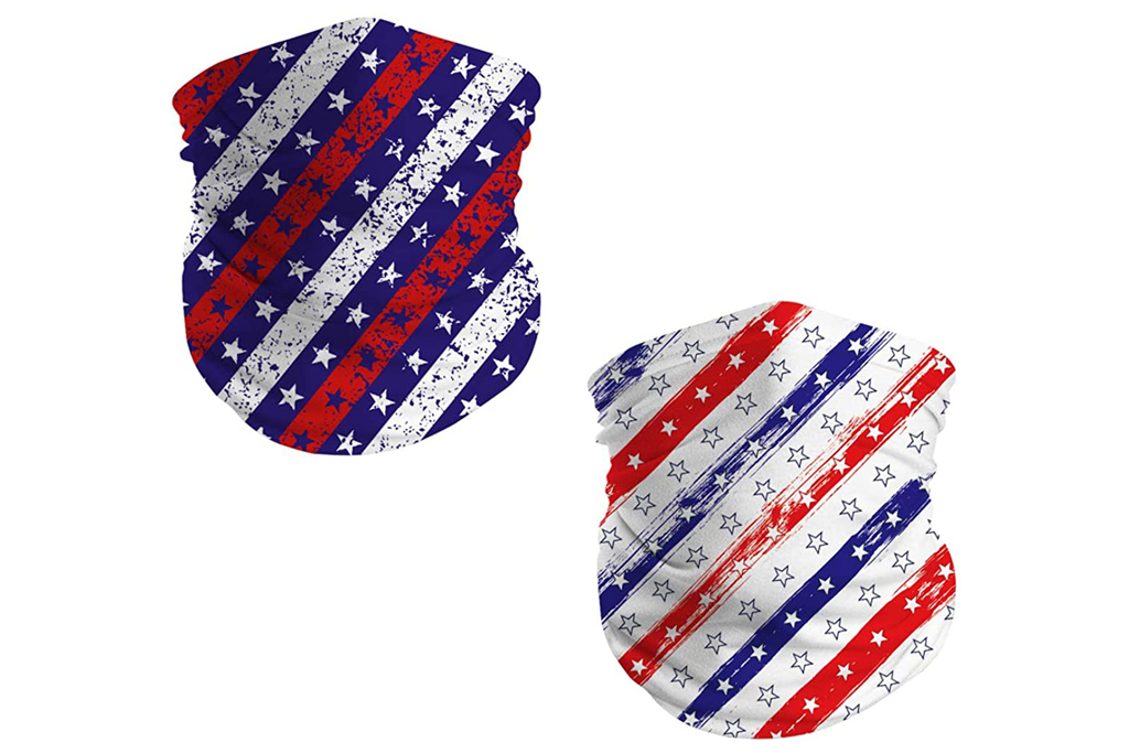 face mask, american flag, red white and blue