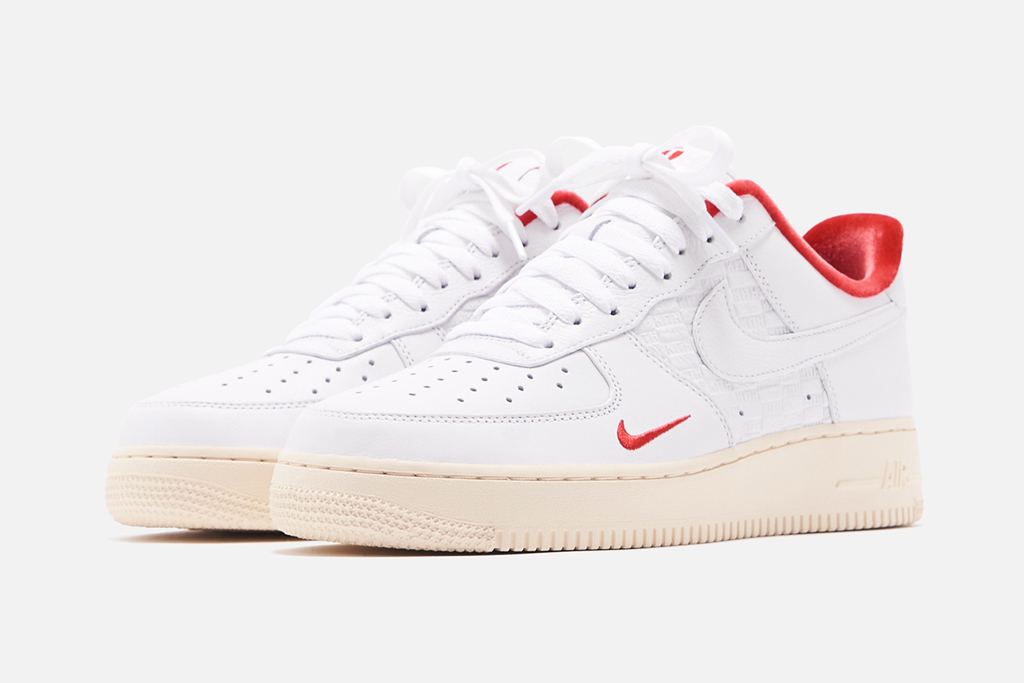 """Kith x Nike Air Force 1 """"Tokyo"""", nike, air force 1, kith, sneakers, white, red, beige, tokyo, japan"""