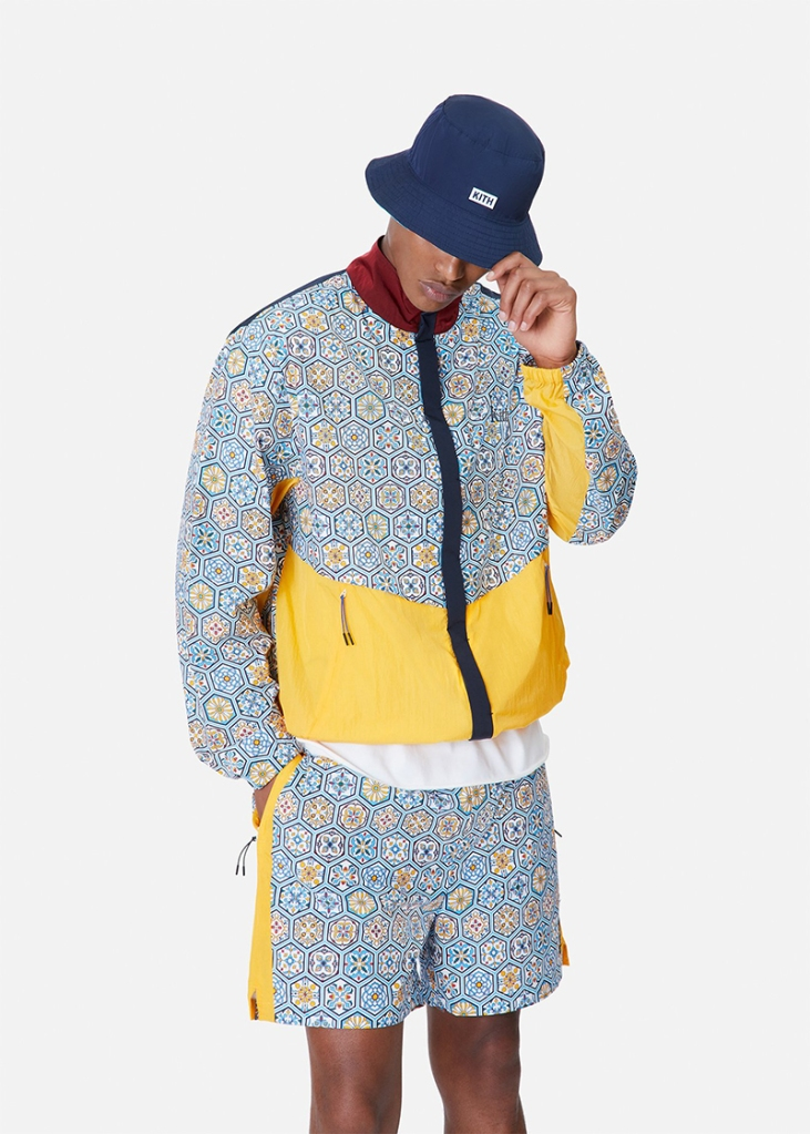 kith, summer, tile, print, vans, jacket, hat, shoes