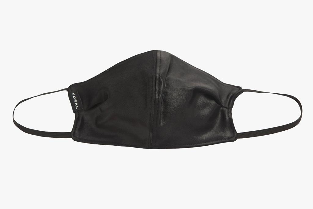 koral, black, face mask