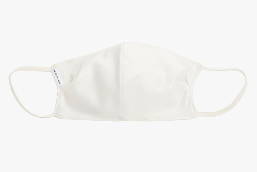 koral, face mask, white