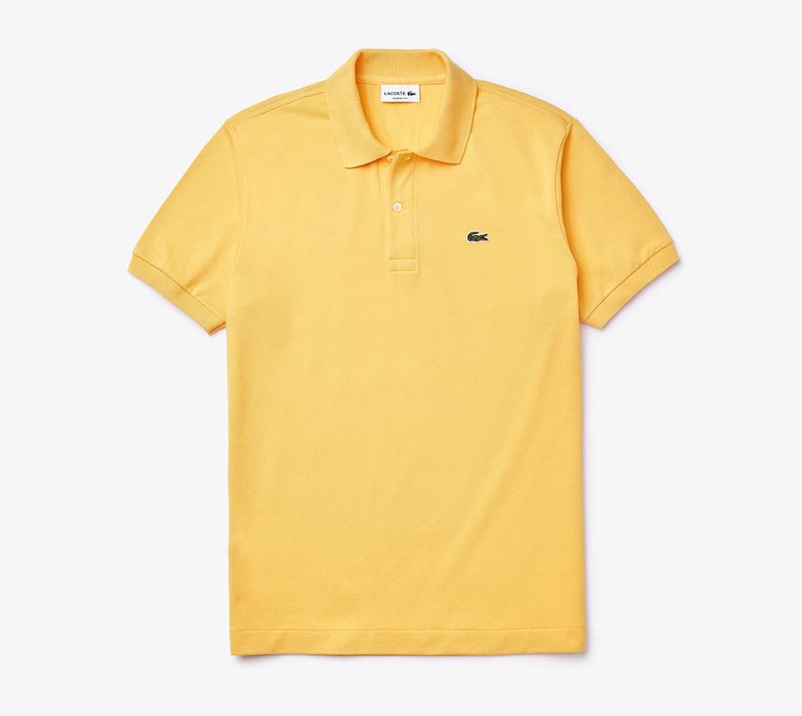 lacoste, polo, yellow
