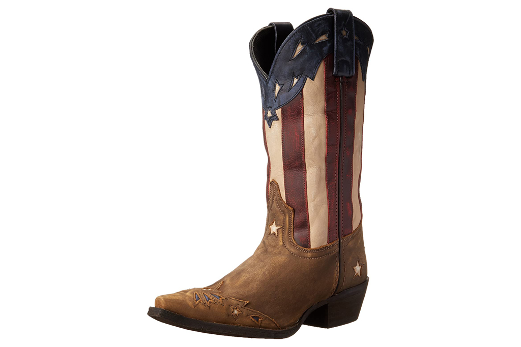 laredo, american flag, boots