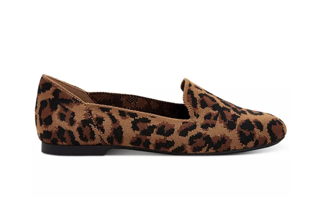 macy's flash sale, leopard flats, knit flats