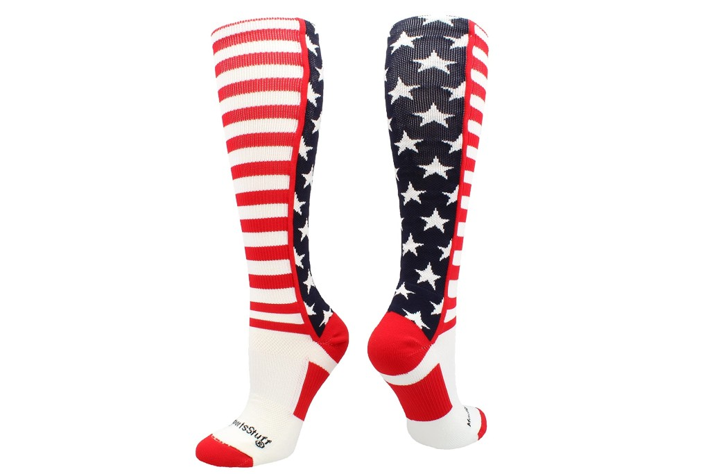 MadSportsStuff American Flag Socks