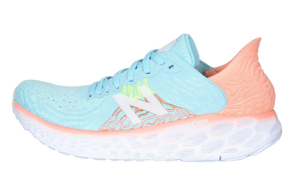 new balance, running shoes, blue pink