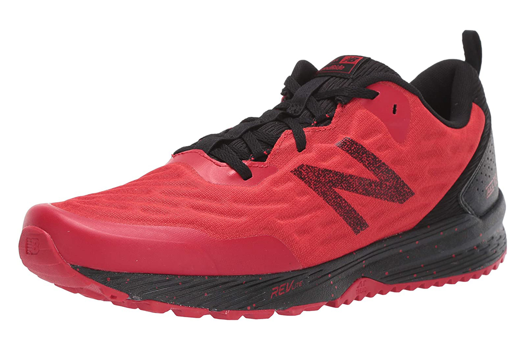 new balance, red shoes, trail
