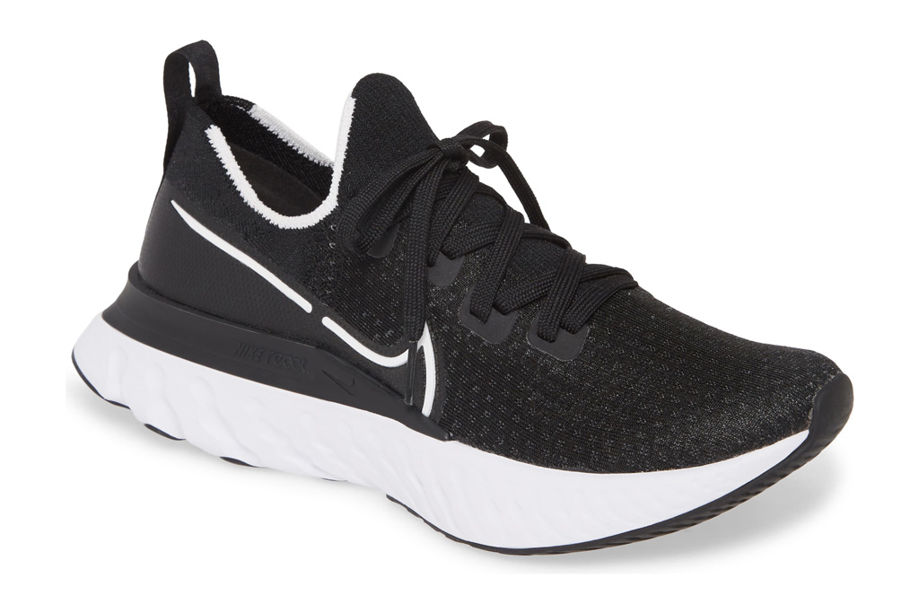 nike, running shoes, black white