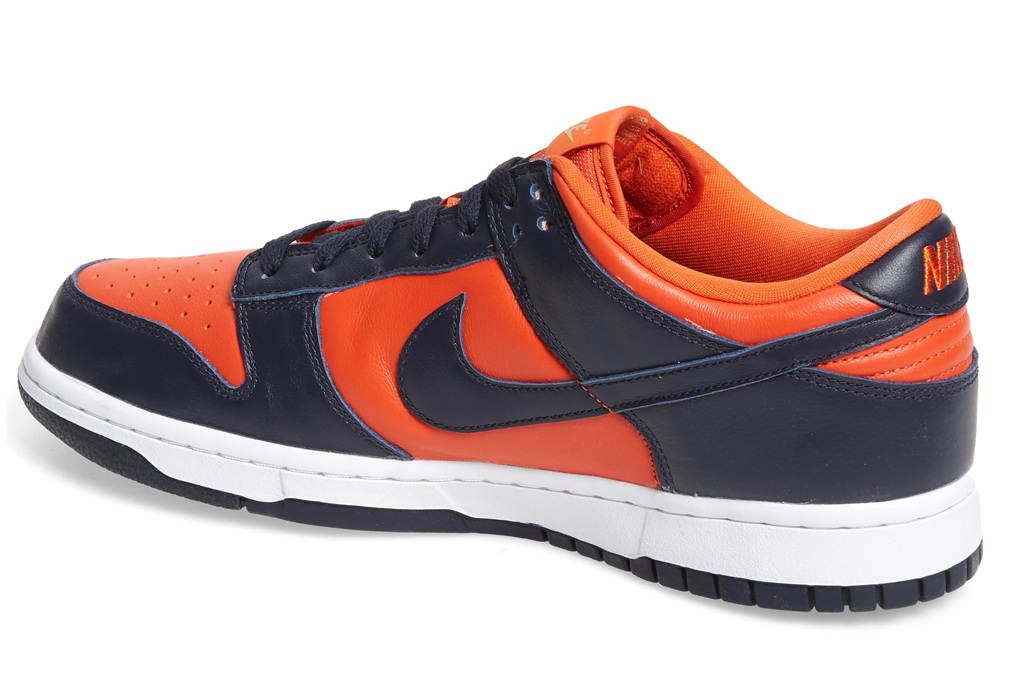 "Nike Dunk Low SP ""Champs Colors"", nike, champs colors, orange, blue"
