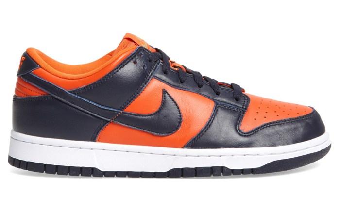 "Nike Dunk Low SP ""Champ Colors"", nike, champs colors, orange, blue"