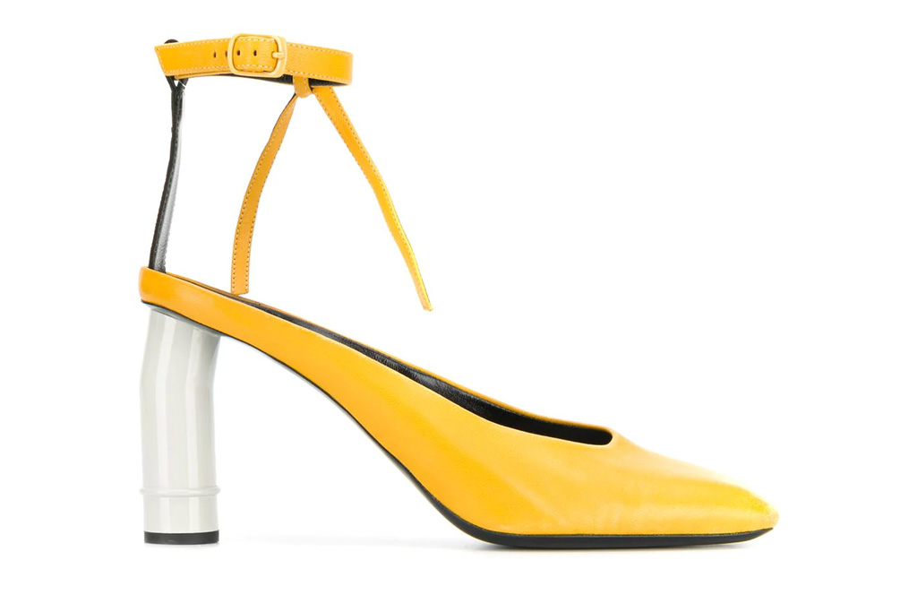 nina ricci, pumps, yellow, white