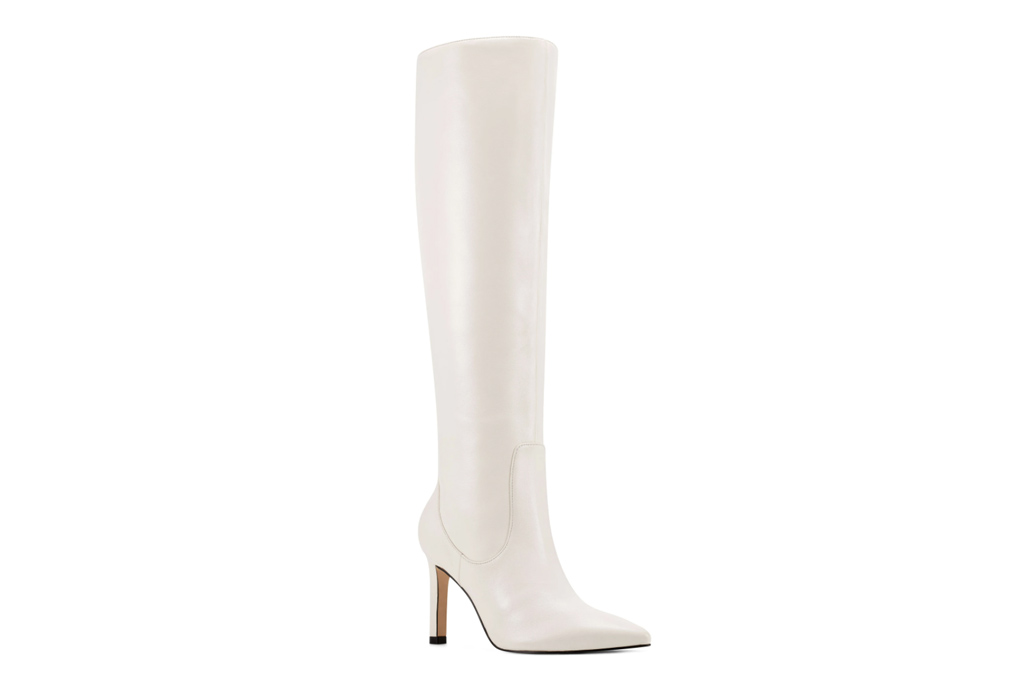 nine west, white boots