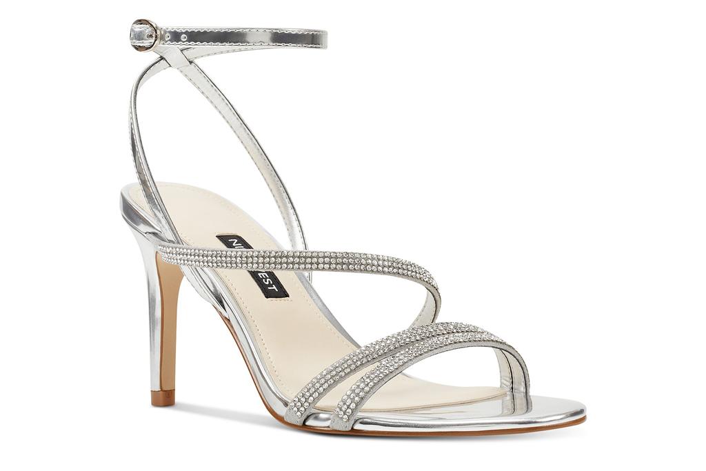Nine West, silver sandals