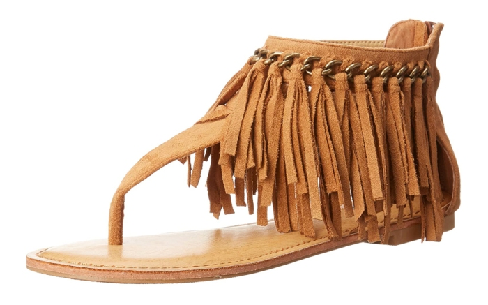 not rated, sandals, fringe