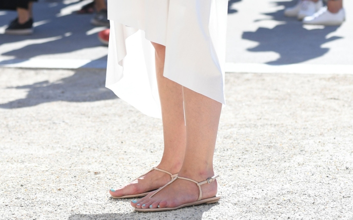 nude sandals, street style